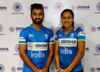 Manpreet Singh and Rani Rampal