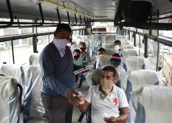 Relief for public as bus services resume in Odisha, but COVID-19 fear lurks