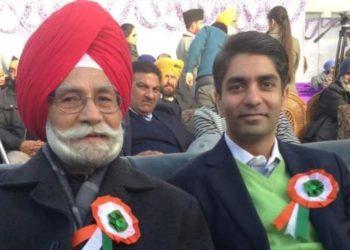 Balbir Singh Sr with Abhinav Bindra