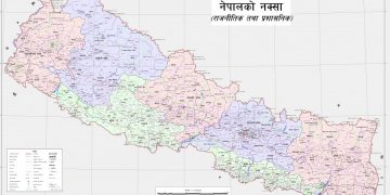 A view of Nepal's updated map