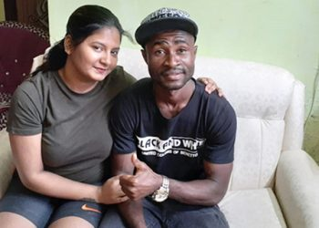 Ansumana Kromah and his wife