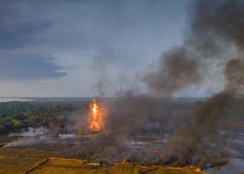 Assam oil fire