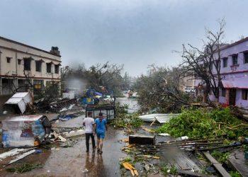 Cyclone Fani left a trail of destruction as it pounded Odisha May 3. (Photo: PTI)