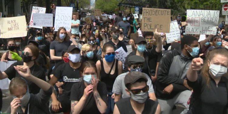 Floyd George protests