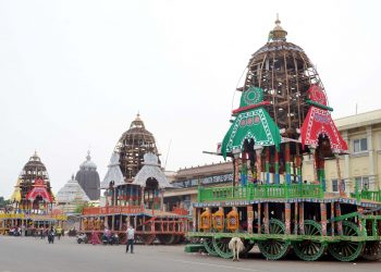 Rath Yatra chariots in Puri (OP Pic)