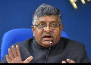 Union Minister Ravi Shankar Prasad. Pic courtesy: PTI