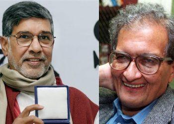 Kailash Satyarthi and Amartya Sen