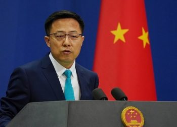 Chinese Foreign Ministry spokesman Zhao Lijian. Pic courtesy: Kashmir Observer
