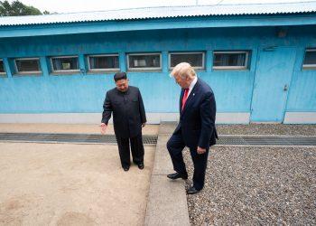 Kim Jong Un with Donald Trump. (Image courtesy: wikimedia commons)