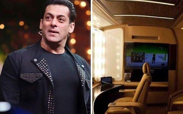Salman Khan's luxury vanity van is no less than a luxurious flat, see pics