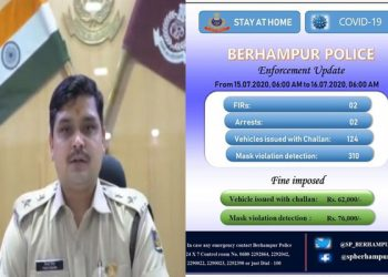 310 people fined in Berhampur for not wearing masks, police collect Rs 76,000