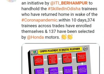 Berhampur ITI gets job offers despite COVID curbs