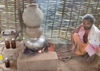 Cow urine, a mantra for disease-free life for this Angul man