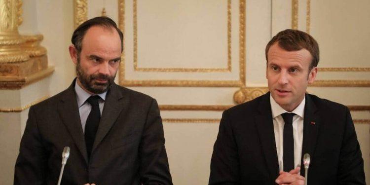 Edouard Philippe and Emmanuel Macron