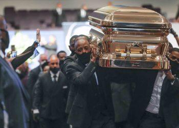 George Floyd casket