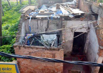Fani-ravaged house of Purnachandra Mahapatra