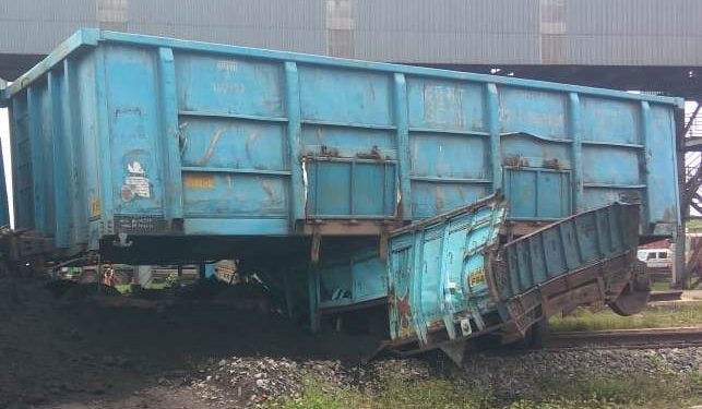 Narrow shave for truck driver as goods train rams vehicle at Paradip port