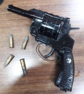 Seized country-made pistol