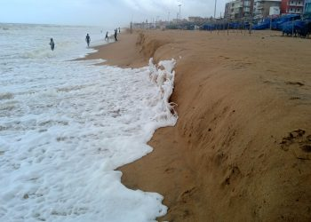 Violent sea waves trigger four feet deep erosion in Puri's shoreline; people panic