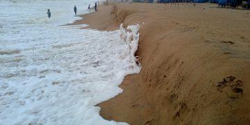 Violent sea waves trigger four feet deep erosion in Puri's shoreline; people panic