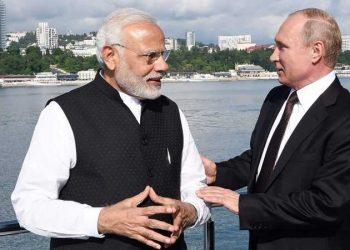 Vladimir Putin and Narendra Modi