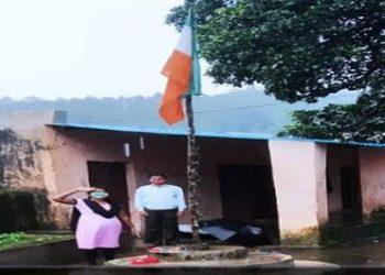 National Flag flown upside down at Malkangiri school