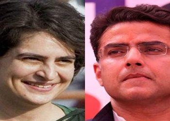 Priyanka Gandhi and Sachin Pilot