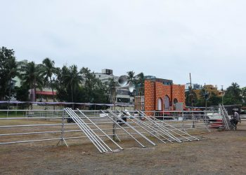Preparations in full swing for Independence Day celebrations at Exhibition Ground in Bhubaneswar