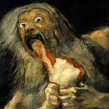 Saturn Devouring His Own Son, the painting by Francis Goya (Image courtesy The Guardian)