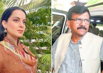 Kangana Ranaut and Sanjay Raut