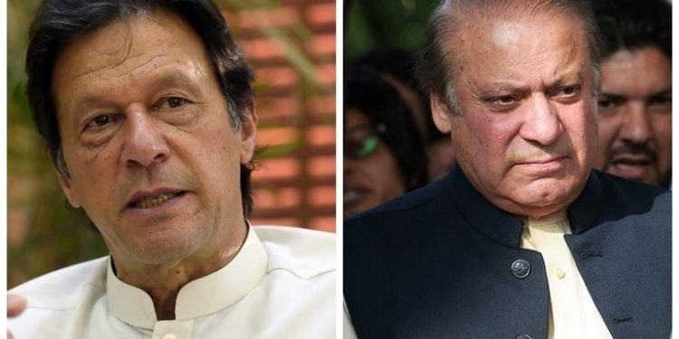 Nawaz Sharif and Imran Khan