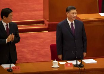 Chinese President Xi Jinping (right) at the Great Hall of the People in Beijing  PTI Photo