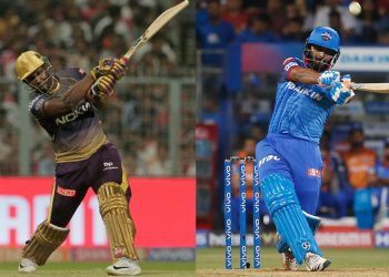 Andre Russell and Rishabh Pant