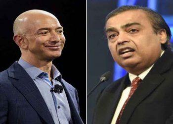 Jeff Bezos and Mukesh Ambani