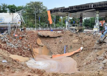 Nightmare continues to haunt staff of explosion-ripped filling station at Raj Bhawan square