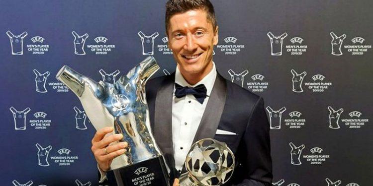 Robert Lewandowski Wins UEFA U2018Player Of The Year U2019 Award