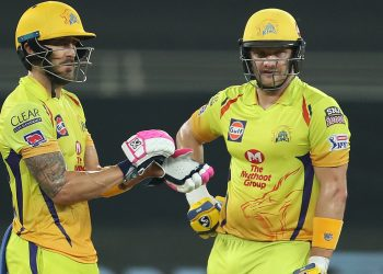 Faf du Plessis and Shane Watson
