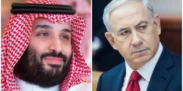 Picture collage of Saudi Arabia's Crown Prince Mohammed bin Salman and Israel's Prime Minister Benjamin Netanyahu. PC: File/ Geo.tv)