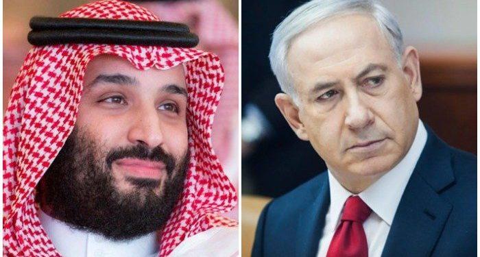 Picture collage of Saudi Arabia's Crown Prince Mohammed bin Salman and Israel's Prime Minister Benjamin Netanyahu. PC: File/ Geo.tv)