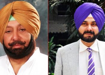Amarinder Singh and Navjyot Singh Sidhu