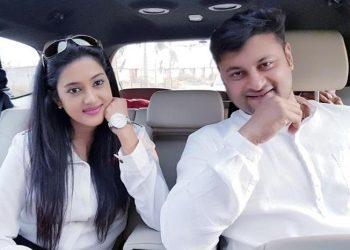 In happier times: File photo of Anubhav Mohanty and his wife Varsha Priyadarshini