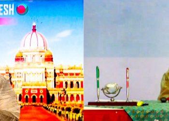 New Delhi: Prime Minister Narendra Modi along with Bangladesh PM Sheikh Hasina launches 'Bangabandhu-Bapu Digital Exhibition' during India-Bangladesh virtual summit, in New Delhi. (PTI Photo)(PTI17-12-2020_000021B)
