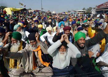 Farmers protes