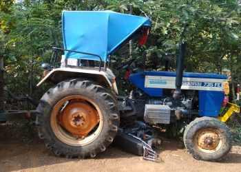Woman killed, husband critically injured as two-wheeler runs into tractor in Gajapati