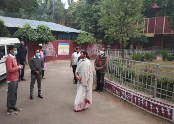 5T Secretary VK Pandian visits schools in Bhubaneswar