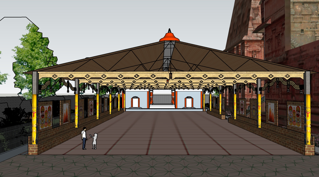 Keonjhar Baldev Jew Temple Bhajan Mandap & Shed