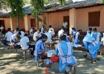 Students of this government school attend classes in open