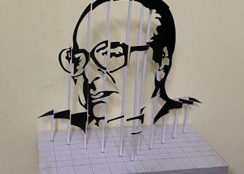 Berhampur ITI students create Biju Patnaik's 3D graphics sculpture