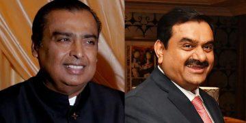 Mukesh Ambani and Gautam Adani