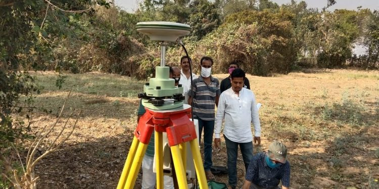 Officials take measurements near Subarnarekha
